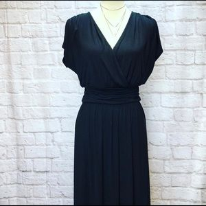 🆕 Wrap Top Black Maxi Dress, Medium